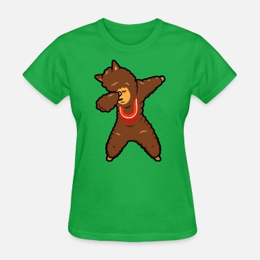 Dabbing Alpaca Funny Animal Dab - Women's T-Shirt