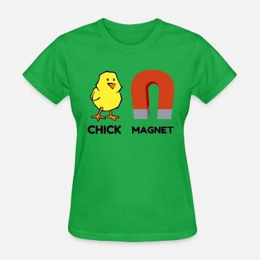Chicken Coop Chick Magnet - Women's T-Shirt