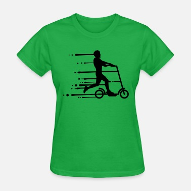 Designers drip graffiti wet electric scooter clipart electri - Women's T-Shirt
