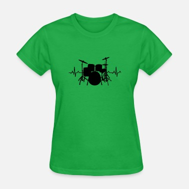 Drums Heartbeat Funny drummer - Women's T-Shirt