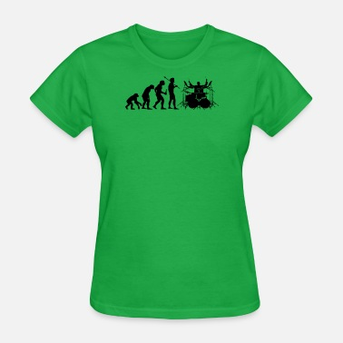 Evolution Of The Drummer Evolution of Drummer - Women's T-Shirt