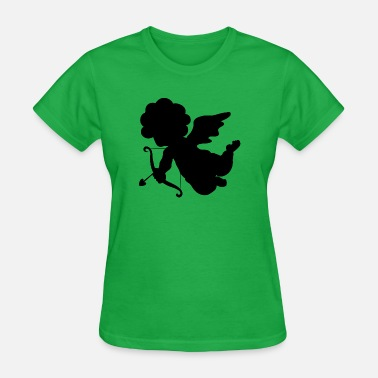 Heart Shape Draw cool-angel-draws-shape-valentines-day-amour - Women's T-Shirt