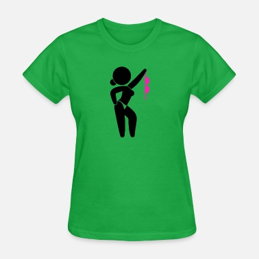 Sensual Stripper A Stripper Taking Off Her Bra! - Women's T-Shirt