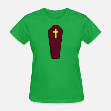 Burial coffin burial cross grave cemetery dead gravestone - Women's T-Shirt
