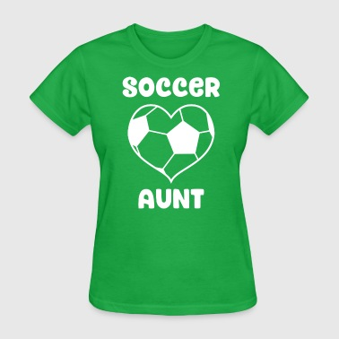 Heart Soccer Aunt - Women's T-Shirt
