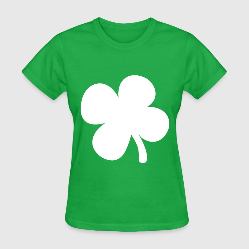 Shamrock 4-Leaf Clover - Women's T-Shirt