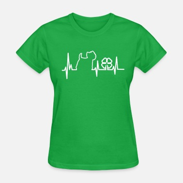 Westie My Heart Beats Westie - Women's T-Shirt