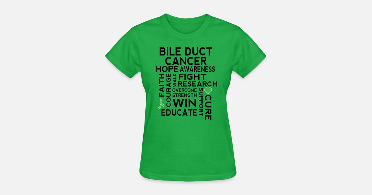 Bile Duct Cancer Awareness Ribbon Support Women S T Shirt