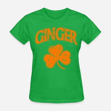 Ginger Orange Shamrock Dark St Patrick's Day - Women's T-Shirt