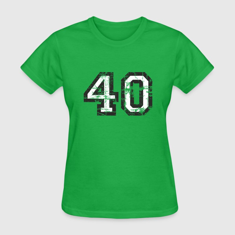 Number 40 Forty 40th Birthday Design - Women's T-Shirt