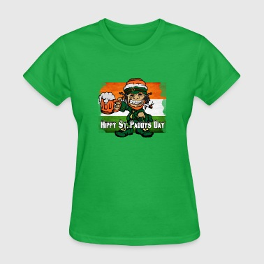 Hippy St. Paddy Day - Women's T-Shirt