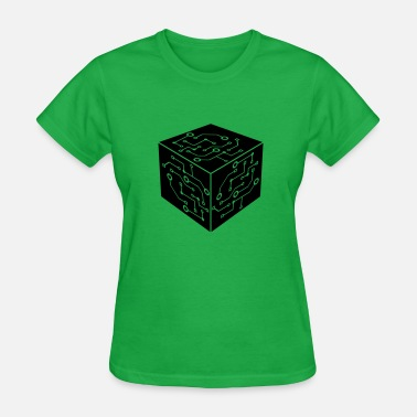 Circuit Electrical Engineering pattern engineering energy circuit data circuit wi - Women's T-Shirt