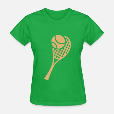 Serena Tennis Racket and Ball - Women's T-Shirt