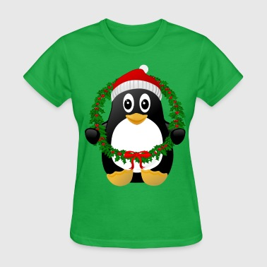 Christmas Penguin - Women's T-Shirt