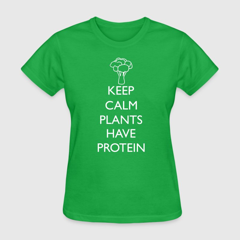 KEEP CALM PLANTS HAVE PROTEIN - Women's T-Shirt