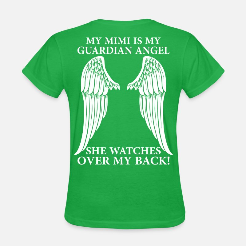 Birthday T-Shirts - My Mimi Is My Guardian Angel - Women's T-Shirt bright green