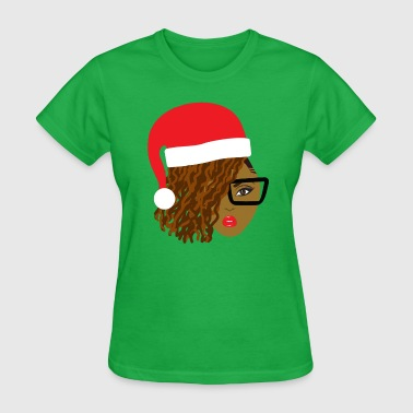 Locs Natural Hair Santa - Women's T-Shirt