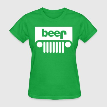 Funny BEER JEEP - Women's T-Shirt