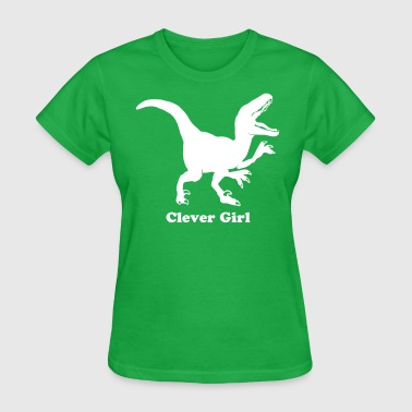 Custom Raptor Dinosaur Graphic - Women's T-Shirt