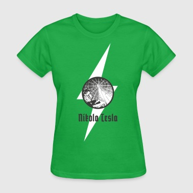 Nikola Tesla the great inventor of AC - Women's T-Shirt