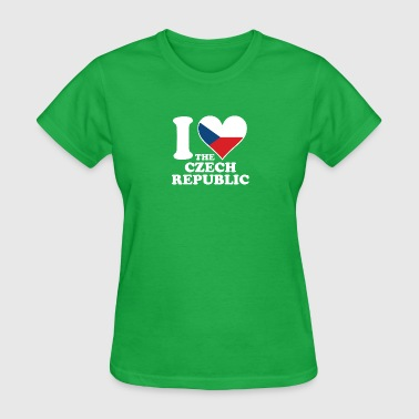 I Love the Czech Republic Czech Flag Heart - Women's T-Shirt