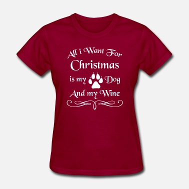 Wine Xmas Christmas DOG WINE Xmas Holiday - Women's T-Shirt
