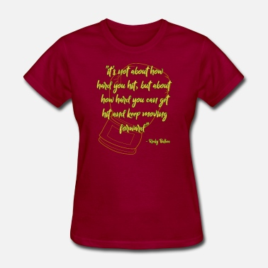 Green And Gold Rocky Quote Gold-Green - Women's T-Shirt