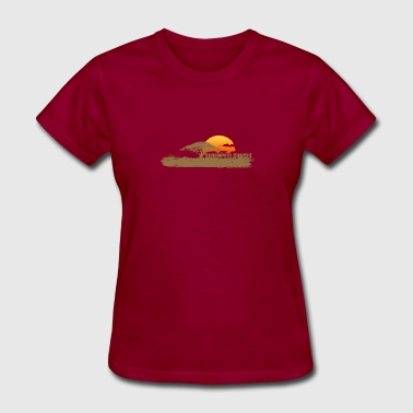 African Savannah & African Sunset - Women's T-Shirt