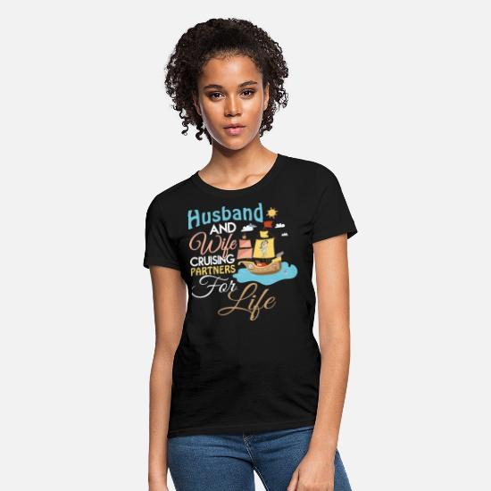 Husband T-Shirts - Husband And Wife Cruising T Shirt - Women's T-Shirt black