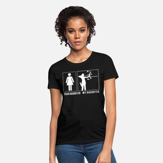 Archery T-Shirts - Your daughter my daughter archery - Women's T-Shirt black
