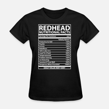 Redhead Redhead Nutritional Facts - Women's T-Shirt