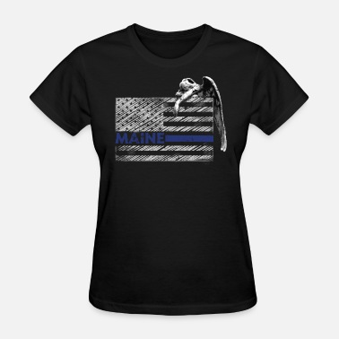 Guardian Angel Symbol Maine Police State Police Guardian Angel - Women's T-Shirt