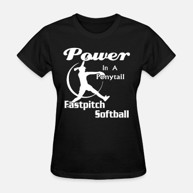Breast Pitcher Power in a fastpitch softball - Women's T-Shirt