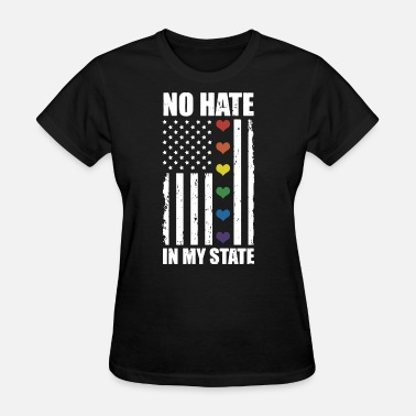 Love Wins Rainbow Flag Gay Love Wins Rainbow Lgbt Tee Flag - Women's T-Shirt