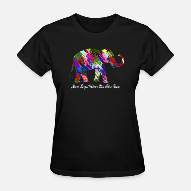 Elephants Never Forget Elephant Art Never forget - Women's T-Shirt