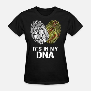 Softball With Flames IT'S IN MY DNA VOLLEYBALL SOFTBALL - Women's T-Shirt