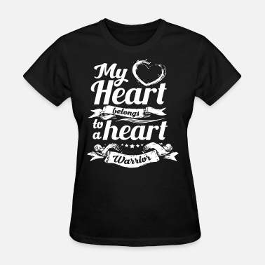 I Heart My Football Boyfriend My Heart Belongs To A Heart Warrior boyfriend t sh - Women's T-Shirt