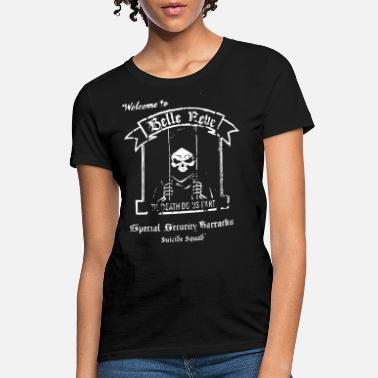 Charcoal Suicide Squad Welcome To Belle Reve Black Charcoal - Women's T-Shirt