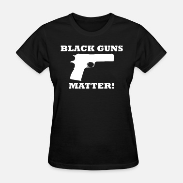 Team Black And Blue Black Guns Matter Lives Blue Cops 2Nd Amendment Ri - Women's T-Shirt