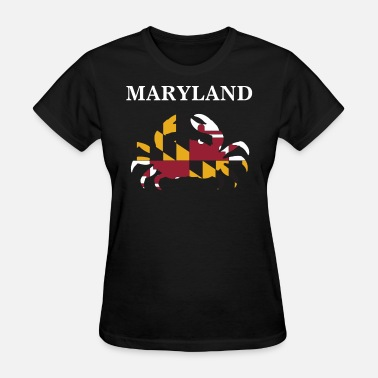 Maryland Blue Crab Maryland State Maryland Flag Crab Art Blue Crab - Women's T-Shirt