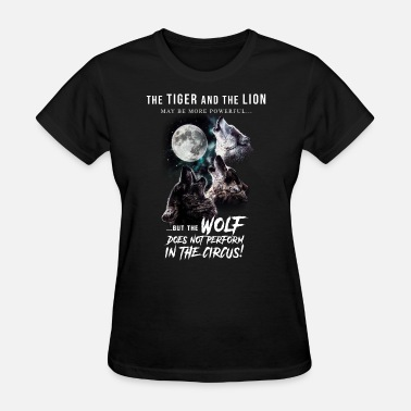 Wolves Moon Wolves and Moon - Women's T-Shirt