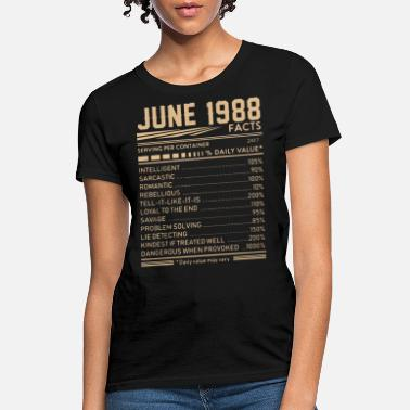 june 1988 facts birthday t shirts - Women's T-Shirt
