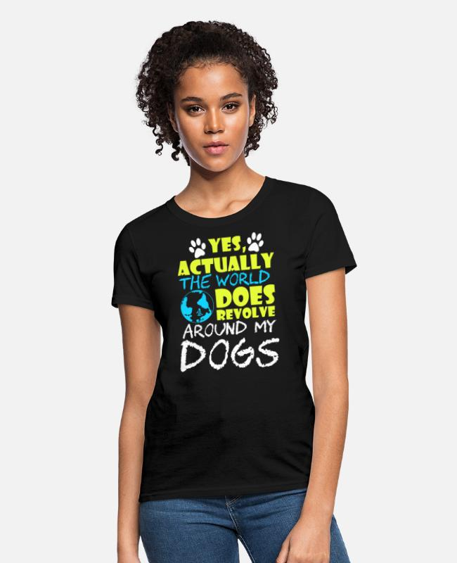 Dog Owner T-Shirts - T shirt Design for Dog Lovers - Women's T-Shirt black