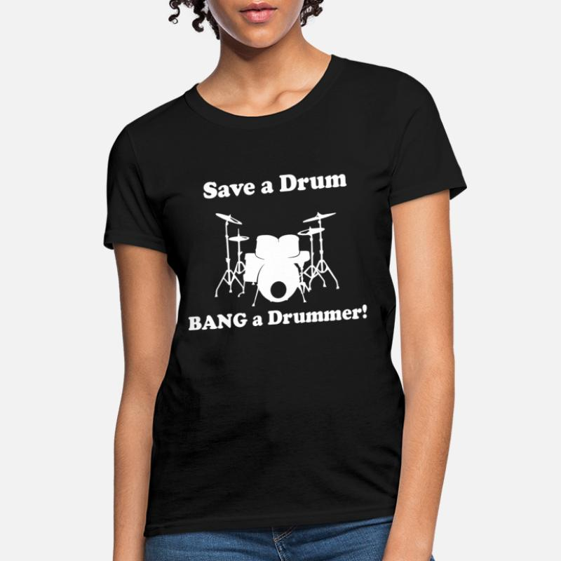 Worlds Finest Drummer WOMENS T-SHIRT Band Drum Kit Stick Funny birthday gift