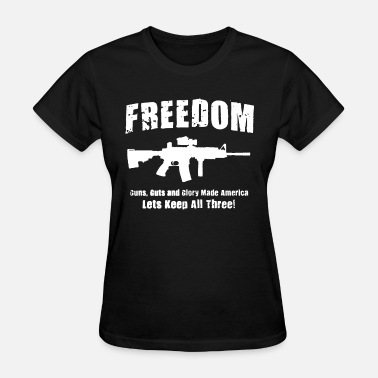 Fucking Veteran Freedom 2Nd Amendment Guns Hunting Shooting Patrio - Women's T-Shirt