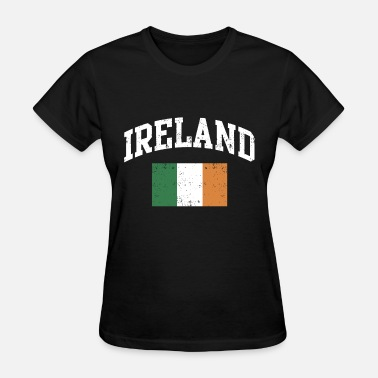 Kiss My Ass Fuck Me Vintage Ireland Irish Flag Green St Patrick s Day - Women's T-Shirt