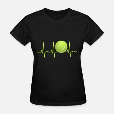 Tennis Nerd tennis heartbeat tennis - Women's T-Shirt