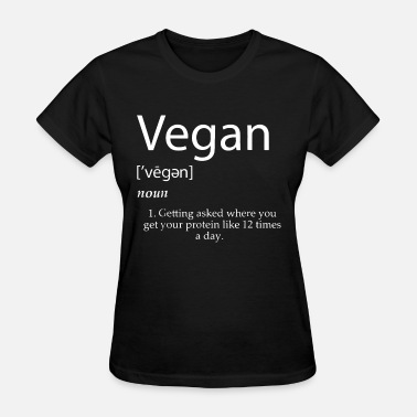 Cocks Sportswear vegan noun getting asked where you get your protei - Women's T-Shirt