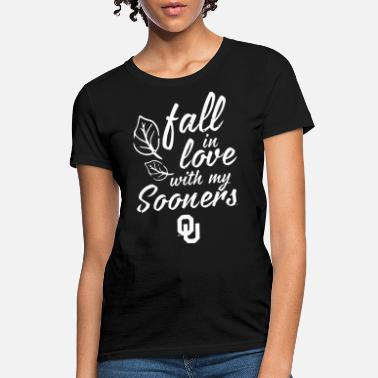 oklahoma sooners fall in love with my sooner resis - Women's T-Shirt
