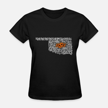 Oklahoma State Map Oklahoma State Cowboys Fight Song Inside State Map - Women's T-Shirt
